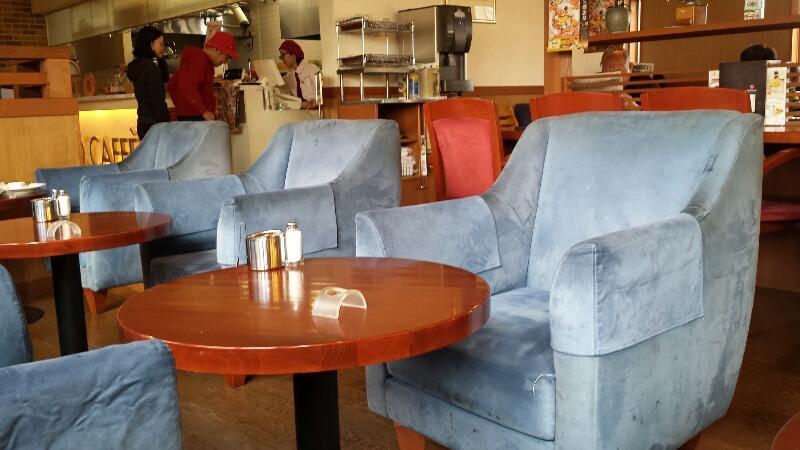 ブリオ珈琲のソファが快適