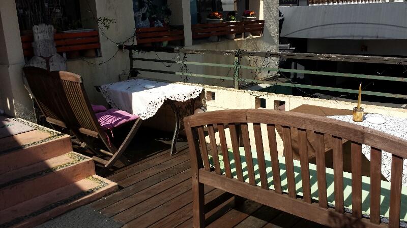 熊本のBouche's cafe (ブーシーズカフェ)のテラス席